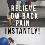 How to relieve lower back pain instantly – 5 MOVES!