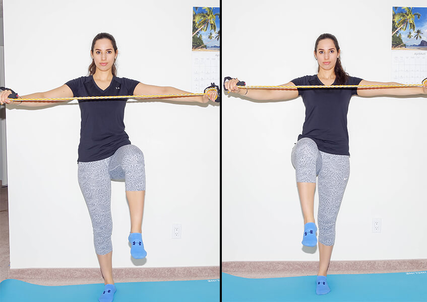 resistance band abs