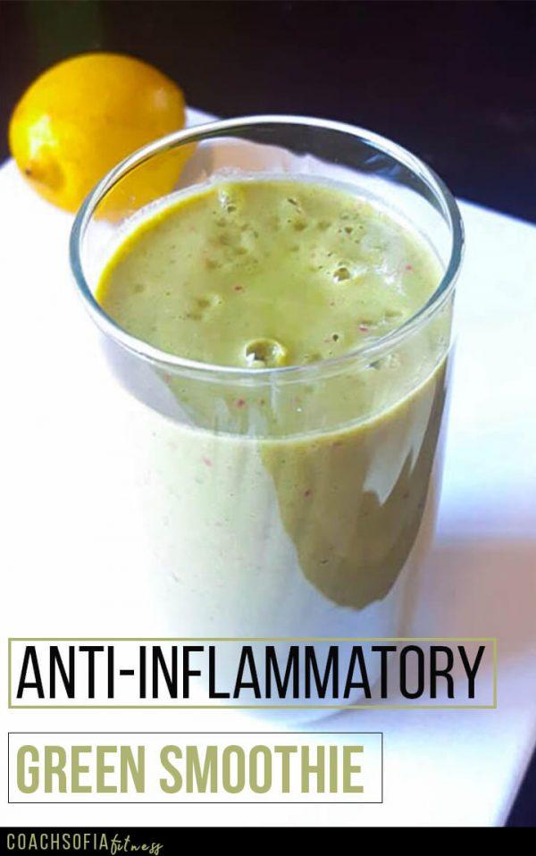 Anti-inflammatory green smoothie | spinach smoothie recipe