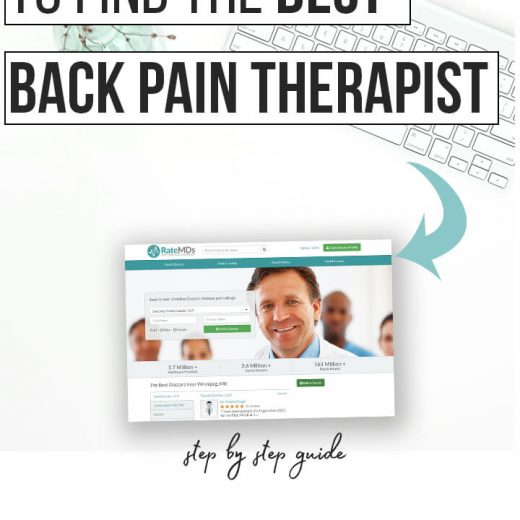 RateMds how to find the best back pain therapist in your city. If you have piriformis syndrome, sciatica or back pain and can't find the right doctor for you, check out this awesome tool