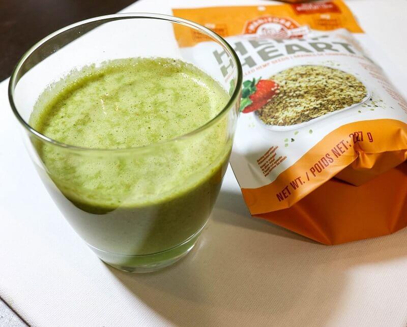 hemp protein green smoothie   healthy smoothies