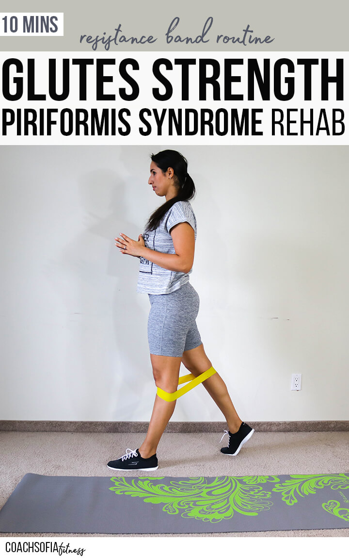 glute strengthening routine that includes piriformis stabilization with a resistance loop band