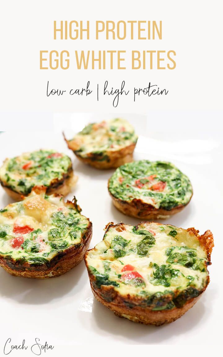 high protein, low carb and gluten free eggwhite bites