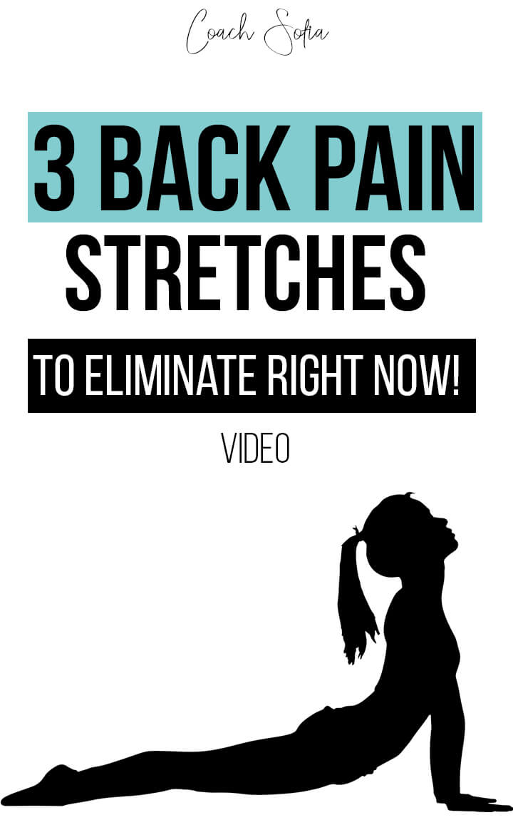 Do you have a disc bulge? do you get back pain bending forward or extending backward?  Most people with back pain, piriformis syndrome and glute pain will look up random stretches on the internet with no way of knowing they're gonna help them heal the root cause of the problem. If you don't see any results or long-term benefit to your stretches, please click on this post. I share with you the top 3 back pain stretches to eliminate RIGHT NOW if you have a disc bulge, disc herniation. #backpain