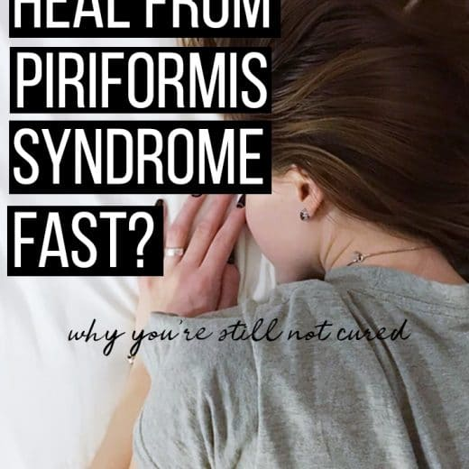 heal piriformis syndrome and lower back pain quickly