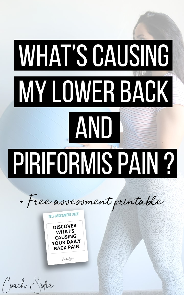 what's causing lower back pain and piriformis syndrome